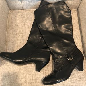 ComfortView Black Knee High Boots